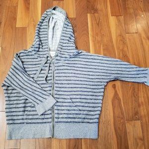 Eddie Bauer 3/4 length sleeve zip hoodie
